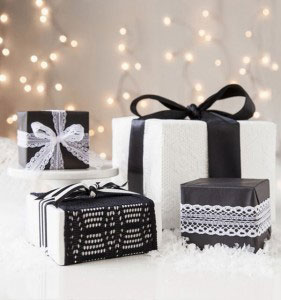 black-and-white-lace-gift-wrap-inspiration
