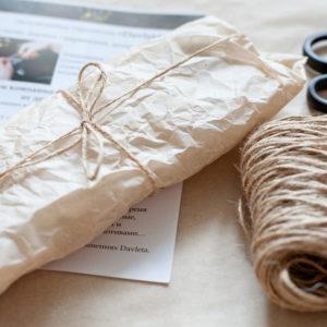Подарочная упаковка крафт фото