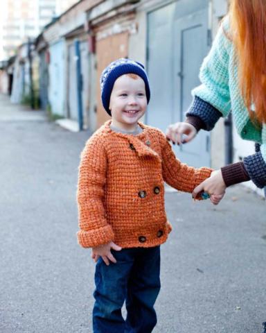 Детская кофта оранжевая