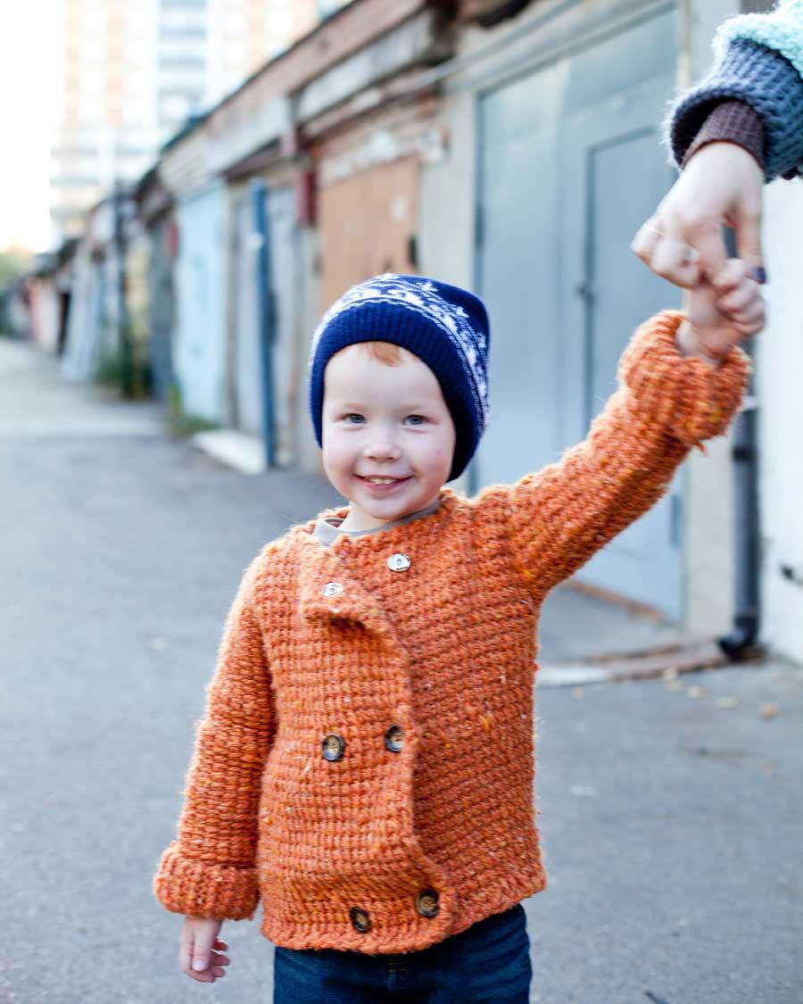 Детская кофта пальто