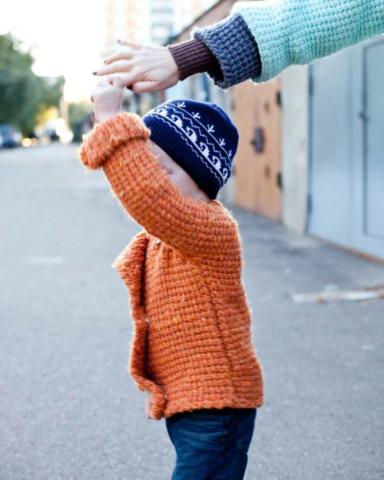 Детская кофта вязаное пальто