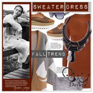 Модные тенденции теплое платье
