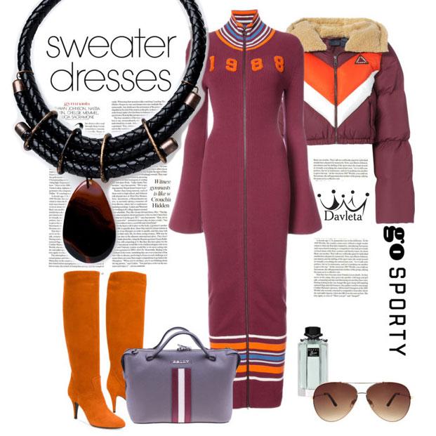 С чем носить теплое платье