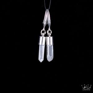 Купить подарок Серьги с кристаллами Кварца в серебре