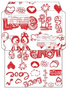 Шаблон конверта на 14 февраля