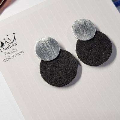 Купить серьги гвоздики черные круглые