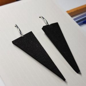 Купить Серьги серебряные треугольники